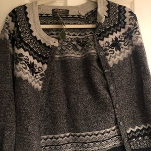 Brand New Wool button up sweater